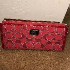 Coach Brand New Ruby/Silver Wallet